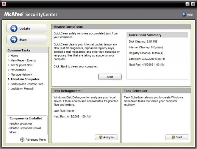 Mcafee Total Protection 2009 Review