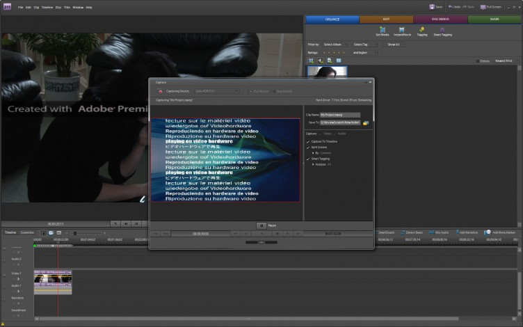 Adobe Premiere Elements 7 capture