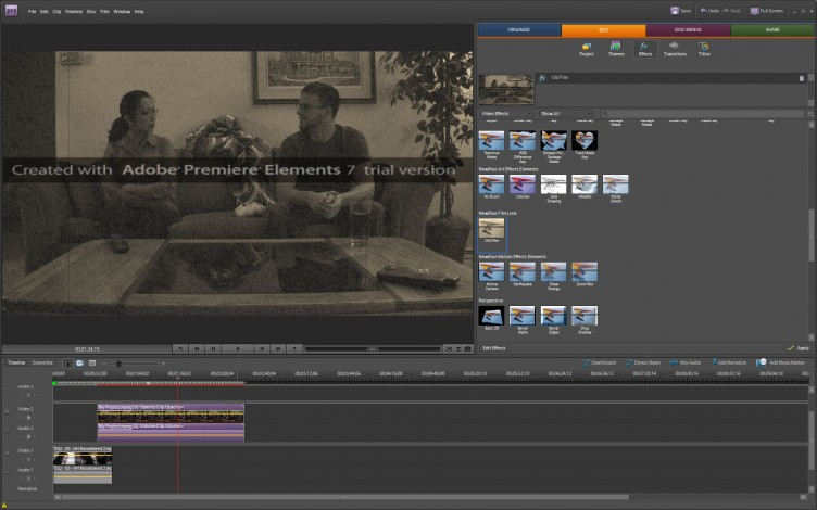 Adobe Premiere Elements 7 effects