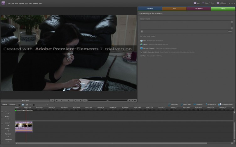 Adobe Premiere Elements 7 share
