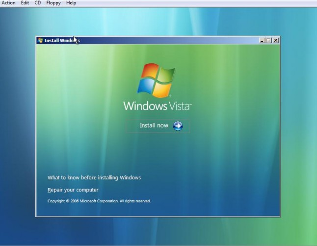 Windows Vista Backup & Restore Center repair your computer