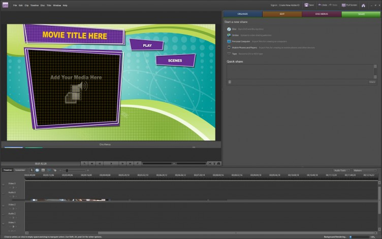 Adobe Premiere Elements 8 sharing