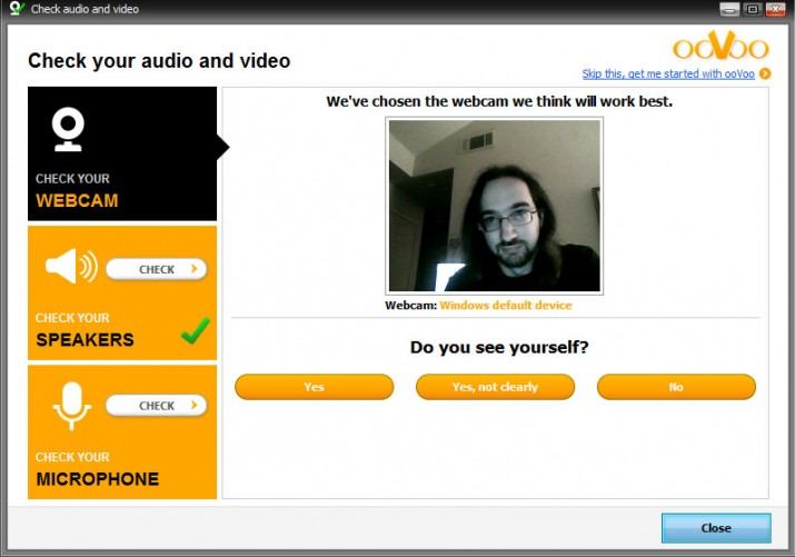 ooVoo Video Conferencing camera test
