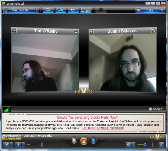 ooVoo Video Conferencing chat view