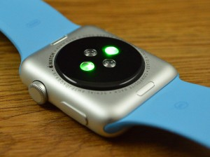 Apple Watch back and LED hear-rate monitor