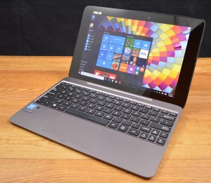 The Transformer Book T100HA is solidly built.