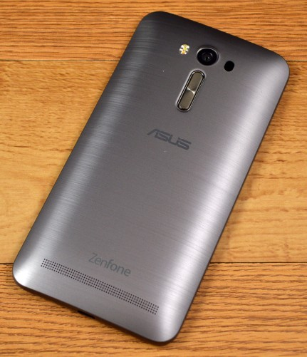 The Asus ZenFone 2 Laser has rear volume buttons.