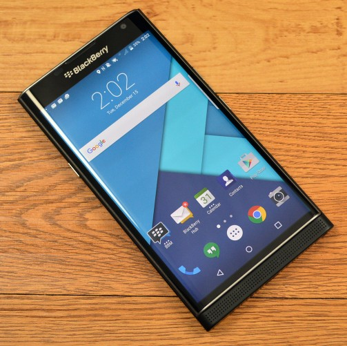 The BlackBerry Priv looks just like a BB handset, but runs Android.