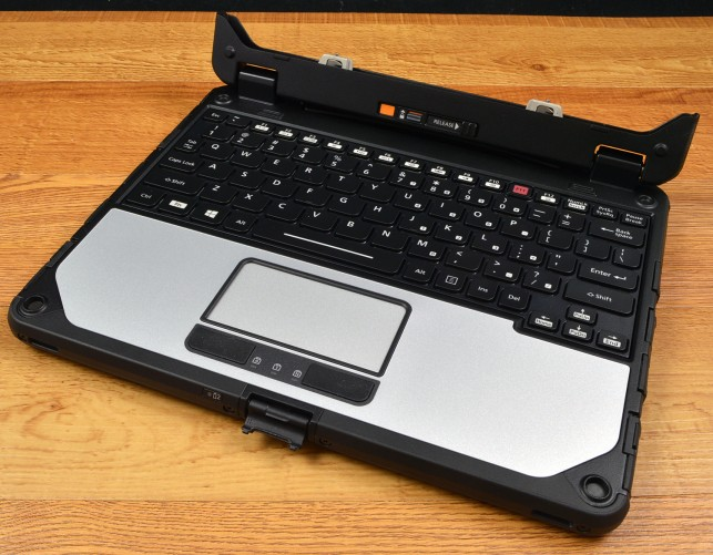 The Panasonic CF-20 keyboard dock is very secure.