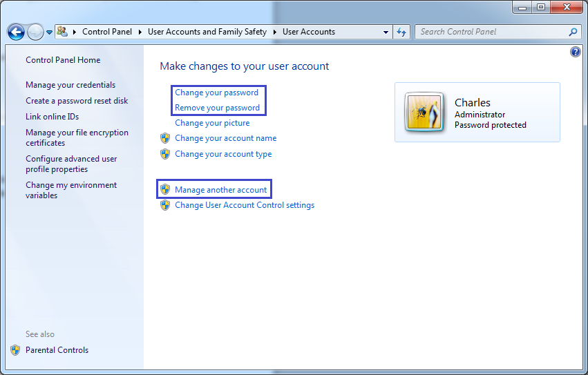 how to set password in windows 7 ultimate