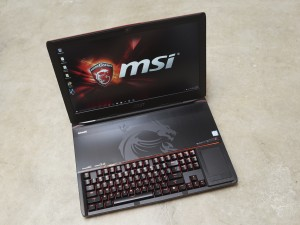 The massive GT80 series gaming notebooks are unique thanks to a mechanical keyboard.