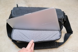 The 13-inch HP Spectre x360 fits perfectly inside the Cooper 13 DSLR.