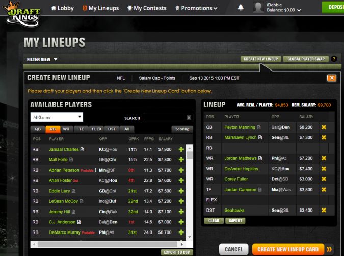 DraftKings is the new kid on the daily fantasy block.