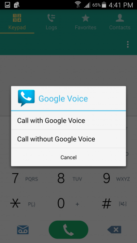 Google Voice works by assigning you a Google number.