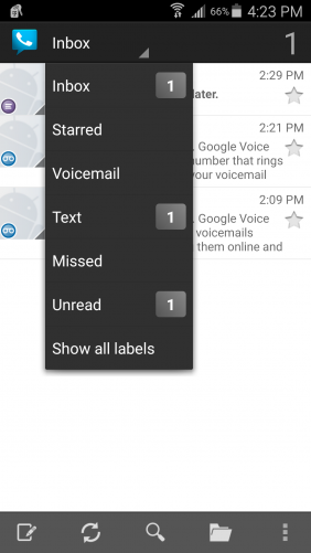 Google Voice has a handful of voicemail features.