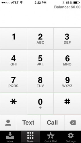 Google Voice Keypad