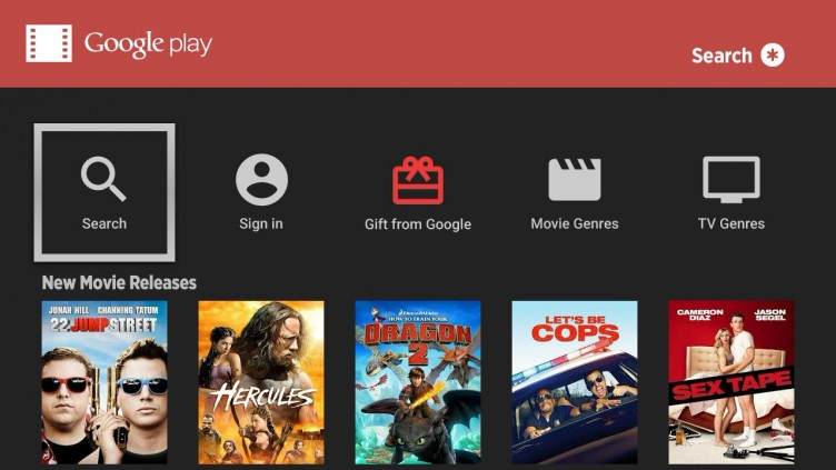 Google Play Movies and TV on Roku