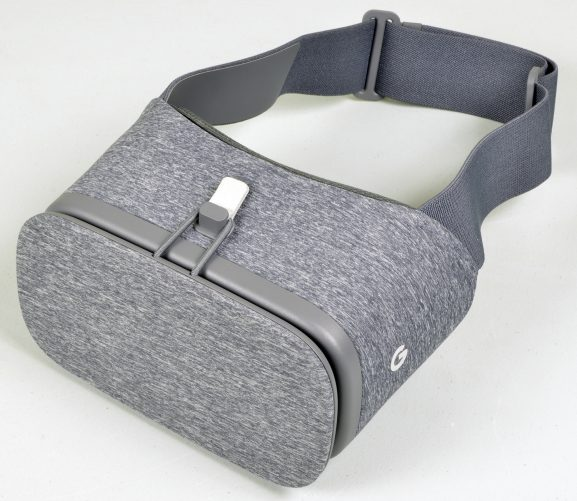 Bird's eye view of Google Daydream View HMD