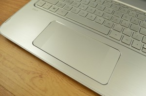 The HP Control Zone touchpad design makes navigating Windows 8.1 feel more natural on a laptop.