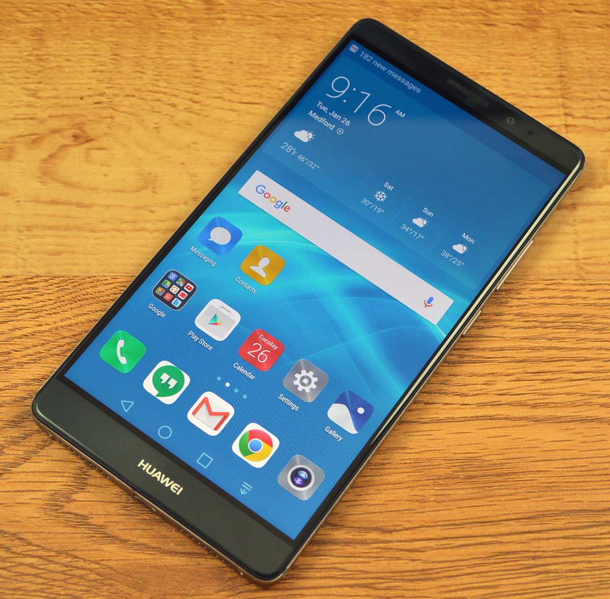 The Huawei Mate 8 is a large, all-metal Android smartphone.