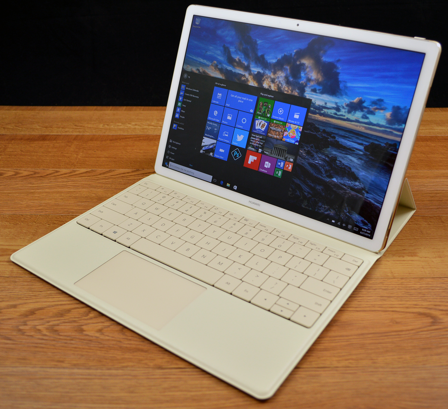 Th Huawei MateBook is a thin Windows 10 two-in-one.