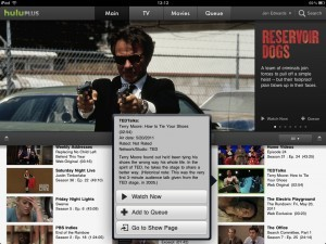 Hulu Plus user interface
