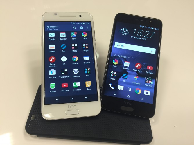The HTC One A 9 looks a lot like an iPhone.