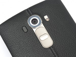 LG G4 camera lens and rear buttons