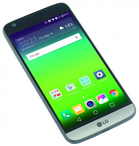 The LG G5 has a Gorilla Glass 4 front.