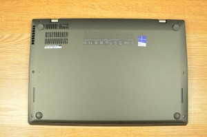 The bottom of the chassis is comprised of carbon fiber similar to the display cover.