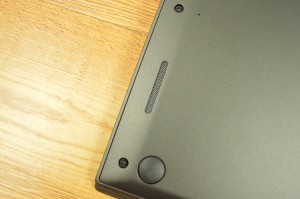 The boisterous speakers are located along the bottom edges of the chassis.