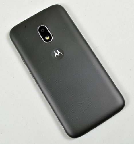 The Moto G4 Play has a slightly-textured back panel.