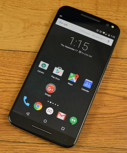 Moto X Pure Edition looks like your average smartphone.