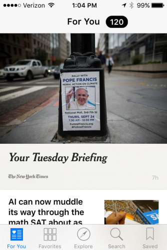 Apple created its own version of Flipboard for iOS 9 called News.