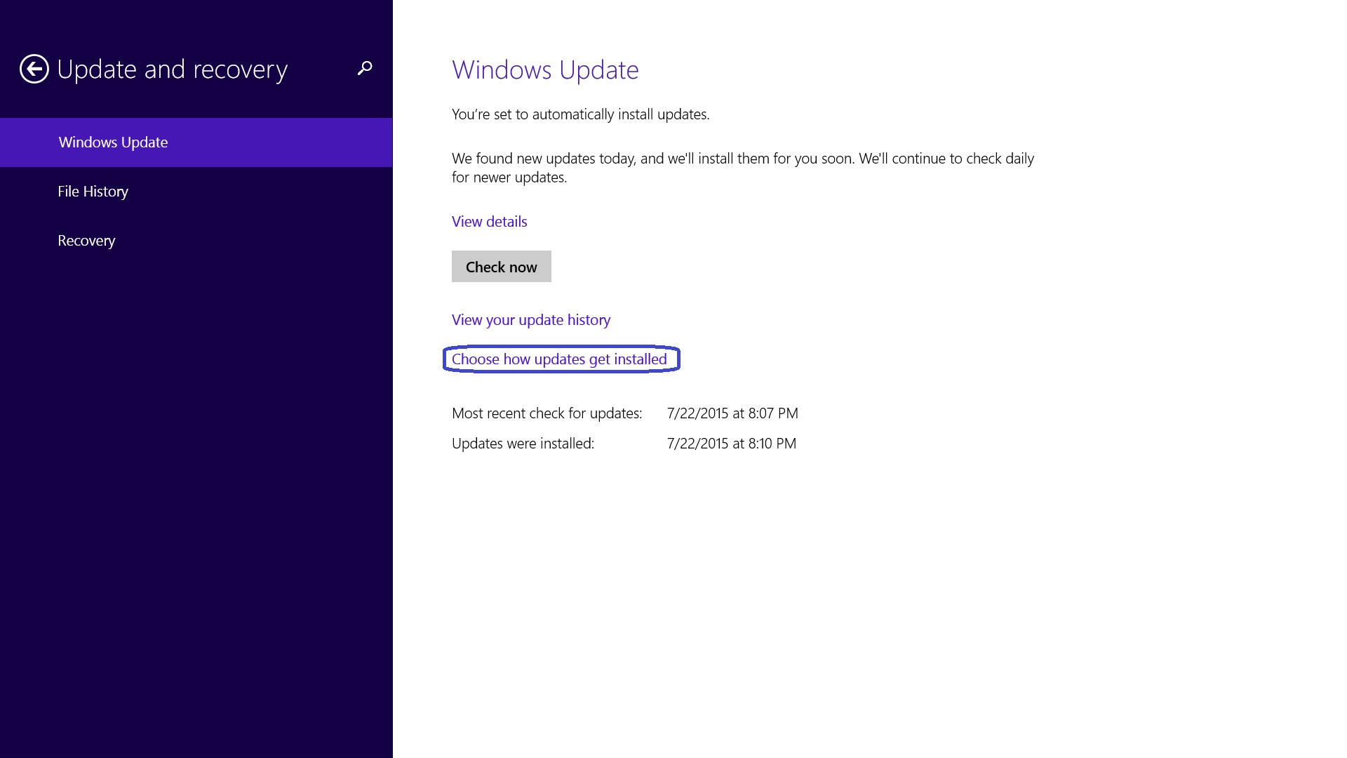 how to change windows update settings in windows 7