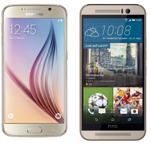 Samsung Galaxy S6 and HTC One M9