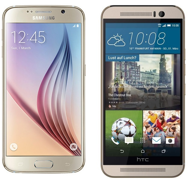Samsung Galaxy s6 And Htc One