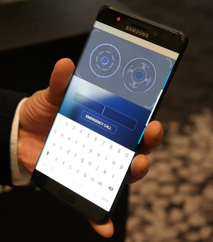 Samsung Galaxy Note 7 iris scanner