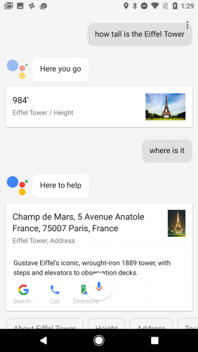 Google Assistant, conversational queries