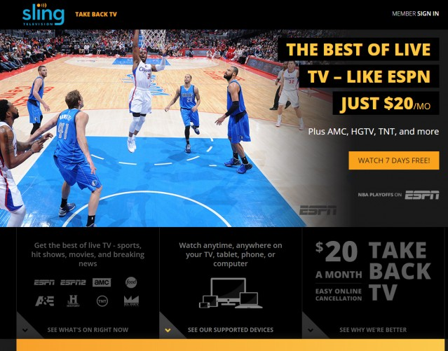 Sling TV offerings