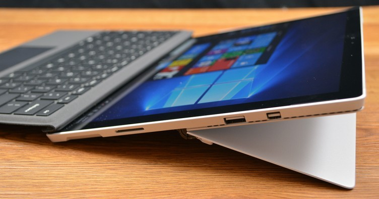 The Surface Pro 4 has a full complement of ports.