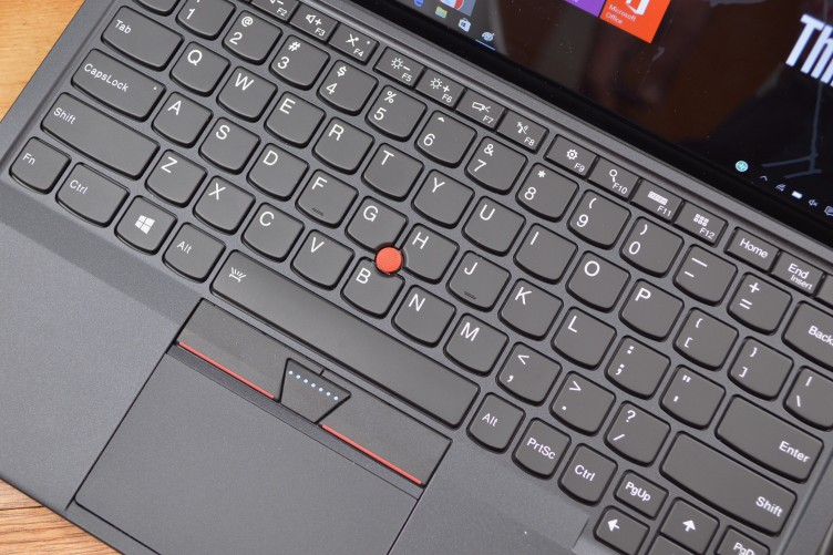 The ThinkPad X1 Tablet has the iconic ThinkPad trackball.