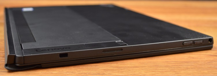 Lenovo ThinkPad X1 Tablet 3.5mm audio jack, volume rocker, speaker, and lockslot