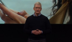 Tim Cook defends personal privacy at Apple's press event.