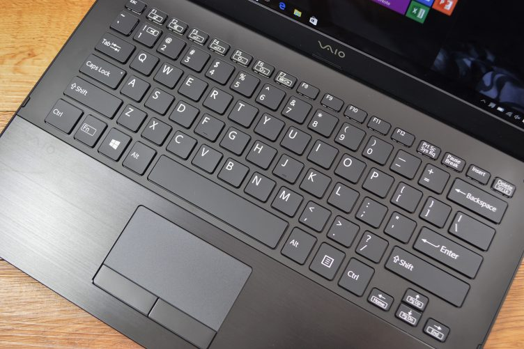The VAIO S keyboard is decent, but the touchpad too small.