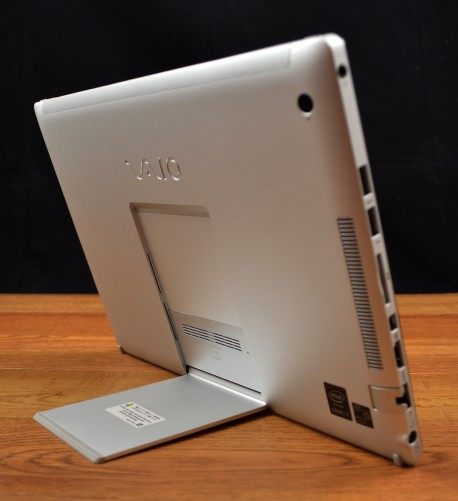 The VAIO Z Canvas has a unique kickstand design.