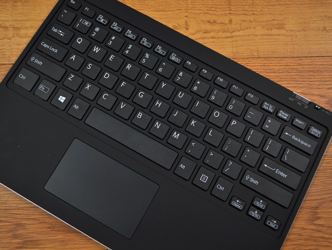 The VAIO Z Canvas ships with a magnetic keyboard cover.