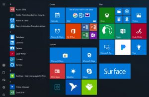 Windows 10 Redstone 4 Start Menu for Windows 10 Pro for Workstations
