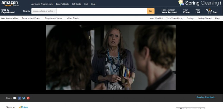 Amazon Prime Instant Video, Transparent