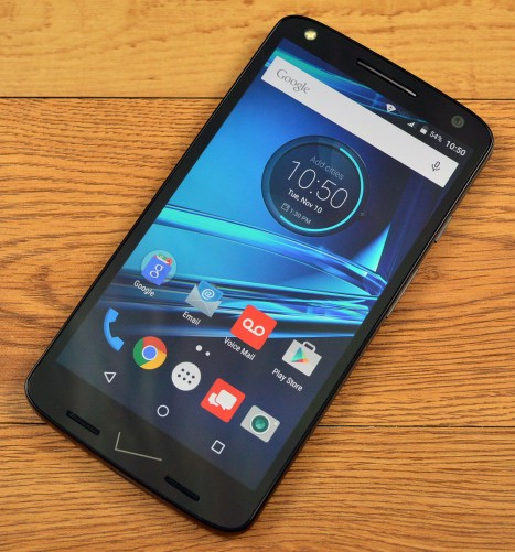 The Motorola Droid Turbo 2 with ShatterShield display.